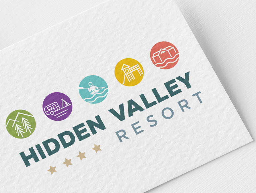 Hidden Valley Logo Design 3 - Hidden Valley Resort Logo Design