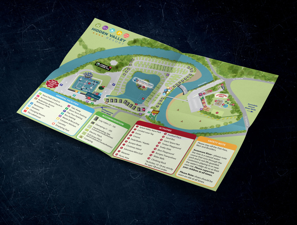 hidden valley map 2 - Hidden Valley Resort Park Map/Wayfinding Design